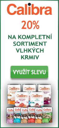 Calibra 20% sleva na vlhká krmiva