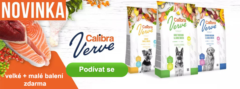 Calibra Dog Verve - malé + velké balení zdarma