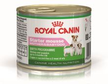 Royal Canin konzerva STARTER MOUSSE MOTHER and BABYDOG 195g -  EXP 01/2021