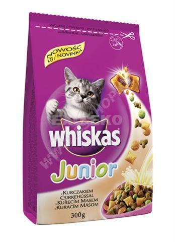 Whiskas Dry Junior s kuřecím masem a polštářky s náplní  300g