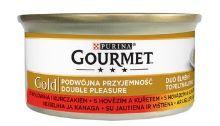 Gourmet Gold konzerva hovězí a kuře 85g