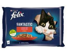 Felix Fantastic s hovězím a kuřetem v želé 4x85g