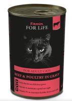 Fitmin For Life Hovězí konzerva pro dospělé kočky 415g