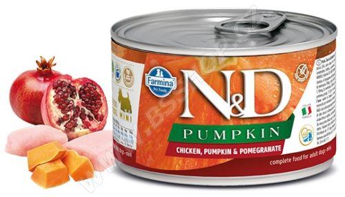 N&D DOG PUMPKIN Adult Chicken & Pomegranate Mini 140g - 1 + 1 ZDARMA