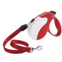 Vodítko samonavíjecí Amigo červená-bílá lanko 5m