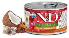 N&D DOG QUINOA Adult Herring & Coconut Mini 140g - 1 + 1 ZDARMA