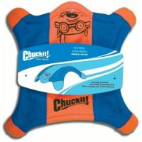 Létající talíř M - veverka - oranžovo-modrá