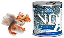 N&D DOG OCEAN Adult Herring & Shrimps 285g - 1 + 1 ZDARMA
