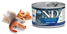 N&D DOG OCEAN Adult Herring & Shrimps Mini 140g - 1 + 1 ZDARMA