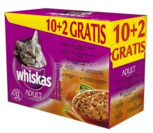 Whiskas kapsa Menu z 4 druhů masa 12x100g