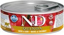 N&D CAT QUINOA Adult Quail & Coconut 80g - 1 + 1 ZDARMA