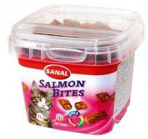SANAL SALMON BITES - křupavé polštářky s lososem 75g