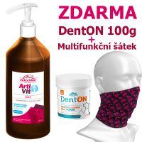 Artivit sirup 1000mm + DentON 100g + Multifunkční šátek