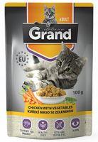 GRAND kapsička kočka deluxe 100% kuřecí se zeleninou 100g
