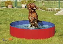 Skládací bazén pro psy modro/červený 120x30cm Karlie