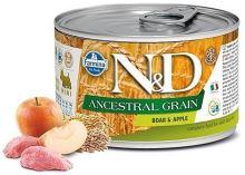 N&D DOG Low Grain Adult Boar & Apple Mini 140g - 1 + 1 ZDARMA