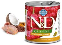 N&D DOG QUINOA Adult Quail & Coconut 285g - 1 + 1 ZDARMA
