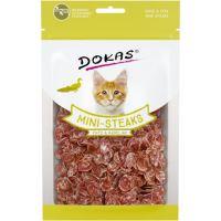 Dokas - Kachna a treska mini steaky pro kočky 40g