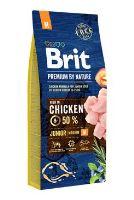 BRIT Premium by Nature Junior M 15kg + obojek FORESTO 70cm