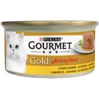 Gourmet  Gold Melting heart paštika s omáčkou uvnitř, kuře 85g