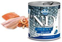 N&D DOG OCEAN Adult Trout & Salmon 285g 1 + 1 ZDARMA