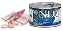 N&D DOG OCEAN Adult Sea Bass & Squid Mini 140g