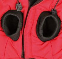 Červená vesta Palermo s odepínací kapucí, Trixie