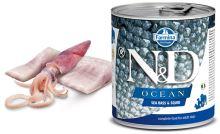 N&D DOG OCEAN Adult Sea Bass & Squid 285g
