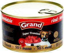 GRAND konzerva Superpremium pes hovězí 405g