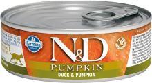 N&D CAT PUMPKIN Adult Duck & Pumpkin 80g - 1 + 1 ZDARMA