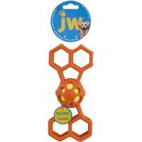 JW Hol-EE Děrovaná kost s míčkem pískací Medium