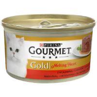 Gourmet Gold Melting heart paštika s omáčkou uvnitř, hovězí 85g