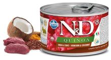 N&D DOG QUINOA Adult Venison & Coconut Mini 140g - 1 + 1 ZDARMA