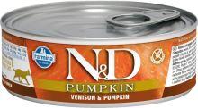 N&D CAT PUMPKIN Adult Venison & Pumpkin 80g - 1 + 1 ZDARMA