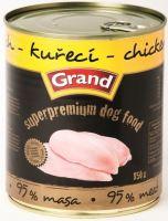GRAND konzerva Superpremium pes drůbeží 850g