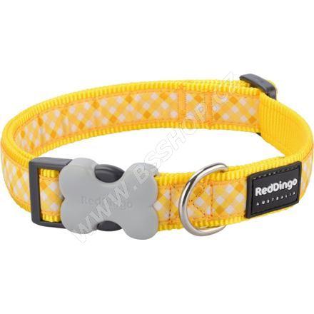 Obojek RD 12 mm x 20-32 cm - Gingham Yellow