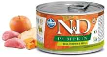 N&D DOG PUMPKIN Adult Boar & Apple Mini 140g 1 + 1 ZDARMA