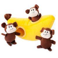 ZippyPaws Burrow - Opice v banánu