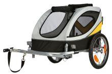 Vozík za kolo L - 58x57x85cm do 40kg šedo/žluto/černý Trixie