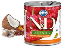 N&D DOG QUINOA Adult Herring & Coconut 285g - 1 + 1 ZDARMA