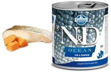 N&D DOG OCEAN Adult Codfish & Pumpkin 285g - 1 + 1 ZDARMA