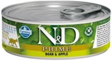 N&D CAT PRIME Adult Boar & Apple 80g - 1 + 1 ZDARMA