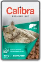 Calibra Cat kapsa Premium Sterilised Liver 100g - EXP 02/2021