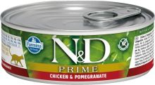 N&D CAT PRIME Adult Chicken & Pomegranate 80g - 1 + 1 ZDARMA