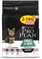 PRO PLAN Puppy Small & Mini Sensitive Skin 2+1kg zdarma