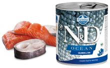 N&D DOG OCEAN Adult Salmon & Codfish 285g - 1 + 1 ZDARMA