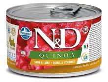 N&D DOG QUINOA Adult Quail & Coconut Mini 140g - 1 + 1 ZDARMA