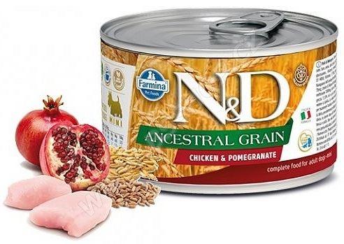 N&D DOG Low Grain Adult Chicken & Pomegranate Mini 140g
