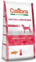 Calibra Dog Grain Free Adult Small & Medium Salmon 12kg