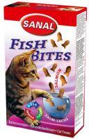 SANAL Fish BITES 75g - křupavé rybičky drůbeží a losos